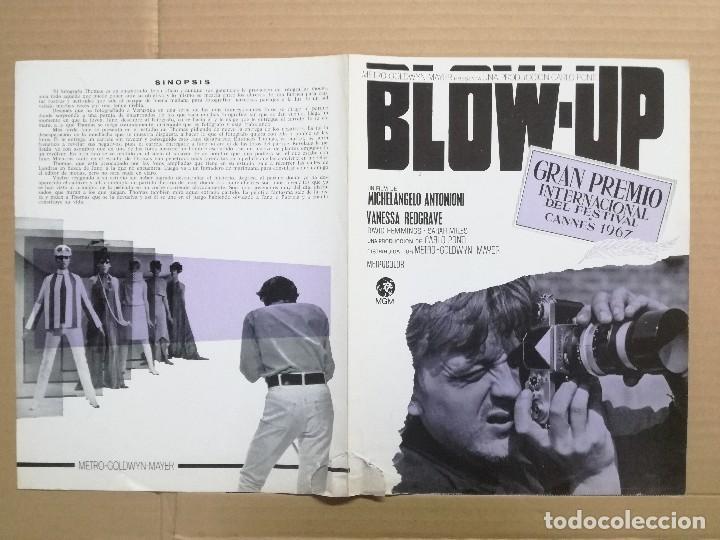 BLOW UP MICHELANGELO ANTONIONI - GUIA PUBLICITARIA ORIGINAL (Cine - Guías Publicitarias de Películas )