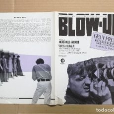 Cine: BLOW UP MICHELANGELO ANTONIONI - GUIA PUBLICITARIA ORIGINAL. Lote 99639095