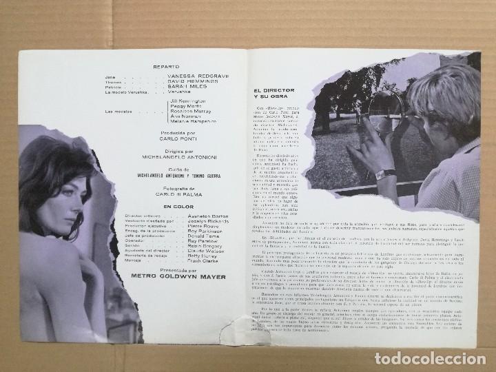 Cine: BLOW UP MICHELANGELO ANTONIONI - GUIA PUBLICITARIA ORIGINAL - Foto 3 - 99639095