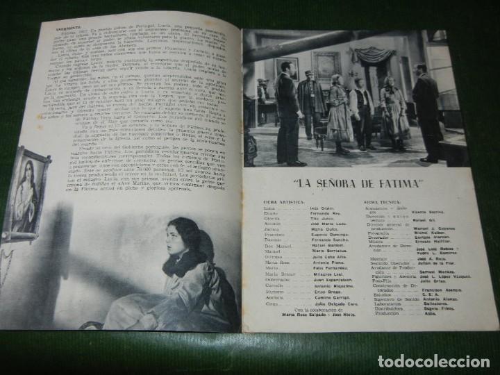 Cine: GUIA ORIGINAL ESTRENO: LA SEÑORA DE FATIMA, - INES ORSINI, FERNANDO REY - SUEVIA FILMS - Foto 2 - 99805307