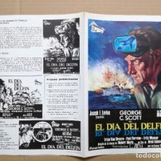 Cine: GUIA PELICULA EL DIA DEL DELFIN.- GEORGE SCOTT. Lote 100330059