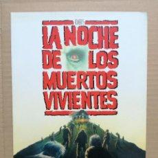 Cine: GUÍA PUBLICITARIA DE CINE LA NOCHE DE LOS MUERTOS VIVIENTES, ORIGINAL. Lote 103382627