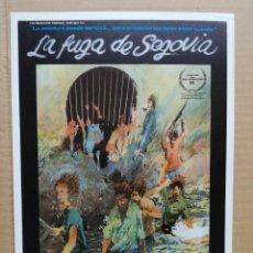 Cine: GUIA PUBLICITARIA DE LA PELICULA LA FUGA DE SEGOVIA.. Lote 103382975