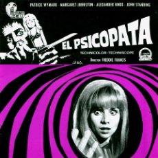 Cine: EL PSICOPATA (GUÍA ORIGINAL ESTRENO EN ESPAÑA 8 PÁGINAS CON FOTOS) TERROR DE CULTO FREDDIE FRANCIS. Lote 103689231