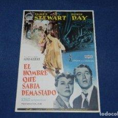 Cine: (M) GUIA CINEMATOGRAFICA - EL HOMBRE QUE SABIA DEMASIADO - ALFRED HITCHCOCK , JAMES STEWART , DORIS . Lote 104361519