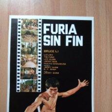 Cinéma: B1-- GUIA SIMPLE DE LA PELICULA--FURIA SIN FIN. Lote 104792227
