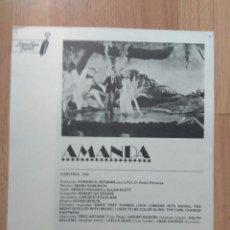 Cine: B1-- GUIA SIMPLE DE LA PELICULA--AMANDA. Lote 105816527