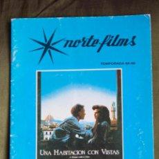 Cine: CATALOGO DE PELICULAS NORTE FILMS TEMPORADA 1988 - 1989. Lote 106745591