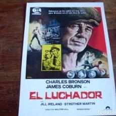 Cine: EL LUCHADOR - CHARLES BRONSON, JAMES COBURN, JILL IRELAND - DIR.WALTER HILL - GUIA SUEVIA AÑO 1976 . Lote 107008431