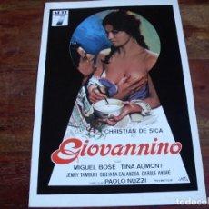 Cinéma: GIOVANNINO - MIGUEL BOSE, CHRISTIAN DE SICA, TINA AUMONT - GUIA 7 ARTE AÑO 1978 - JANO. Lote 107009219