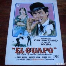 Cine: EL GUAPO - ADRIANO CELENTANO, CLAUDIA MORI - GUIA CEA AÑO 1974 - DISEÑO JANO. Lote 107010015