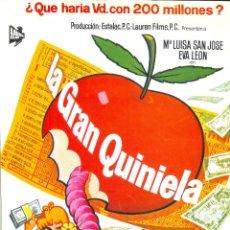 Cine: LA GRAN QUINIELA. GUIA ORIGINAL ESTRENO.. Lote 107078427