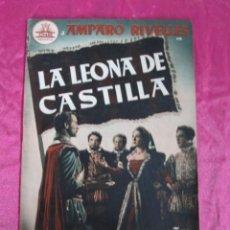 Cine: LA LEONA DE CASTILLA AMPARO RIVELLES GUIA DE CINE 32 PAGINAS EXCELENTE ESTADO. Lote 107441583