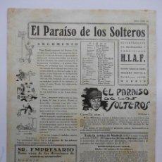 Cinéma: EL PARAISO DE LOS SOLTEROS - GUIA SENCILLA - HEINZ RUHMANN - VER FOTOS Y DESCRIPCION. Lote 107785475