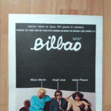 Cine: B1-- GUIA SIMPLE DE LA PELICULA- BILBAO. Lote 107985127