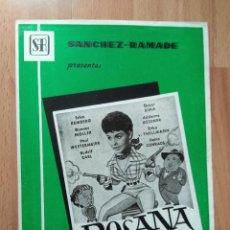 Cinéma: C--GUIA DOBLE DE LA PELICULA-- ROSANA. Lote 108819943