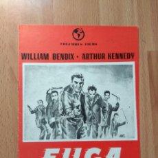 Cine: C--GUIA DE 4 HOJAS DE LA PELICULA--FUGA SANGRIENTA. Lote 108820151