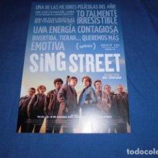 Cine: SING STREET. GUIA PUBLICITARIA SENCILLA. ORIGINAL.MAGNIFICO ESTADO.NUEVO.. Lote 109106679
