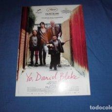 Cinema: YO, DANIEL BLAKE. GUIA PUBLICITARIA SENCILLA. ORIGINAL.MAGNIFICO ESTADO. NUEVO.. Lote 109112395
