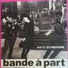 Cine: F-305- GUÍA ORIGINAL JAPONESA BANDE A PART - JEAN LUC GODARD. Lote 109598427