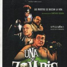 Cine: UNA DE ZOMBIS. Lote 110082987