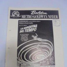 Cine: GUIA PUBLICITARIA. METRO-GOLDWYN-MAYER. LA MAQUINA DEL TIEMPO. VER. Lote 110325147