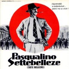 Cine: PASCUALINO SETTEBELLEZE (SIETE BELLEZAS) 1975 (GUÍA ORIGINAL DEL ESTRENO ESPAÑA) GIANCARLO GIANNINI. Lote 110896415