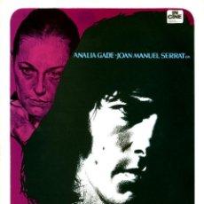 Cine: MI PROFESORA PARTICULAR 1973 (GUÍA ORIGINAL SIMPLE DEL ESTRENO EN ESPAÑA) JOAN MANUEL SERRAT. Lote 111419491
