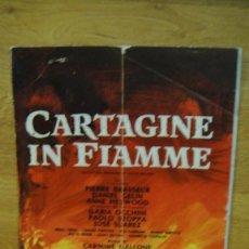 Cine: CARTAGINE IN FIAMME , CARTAGO EN LLAMAS - GUIA PUBLICITARIA. Lote 111622555