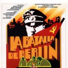 Cinema: LA BATALLA DE BERLIN (GUÍA ORIGINAL DEL ESTRENO EN ESPAÑA). Lote 111679819