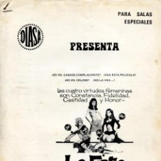 Cine: LAS 4 BRUJAS (GUÍA ORIGINAL 6 PÁGINAS DEL ESTRENO EN ESPAÑA) CLAUDIA CARDINALE RAQUEL WELCH. Lote 111684583