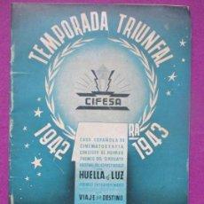 Cine: GUIA PUBLICITARIA, CINE, CIFESA, TEMPORADA TRIUNFAL 1942-1943, G140. Lote 111695959