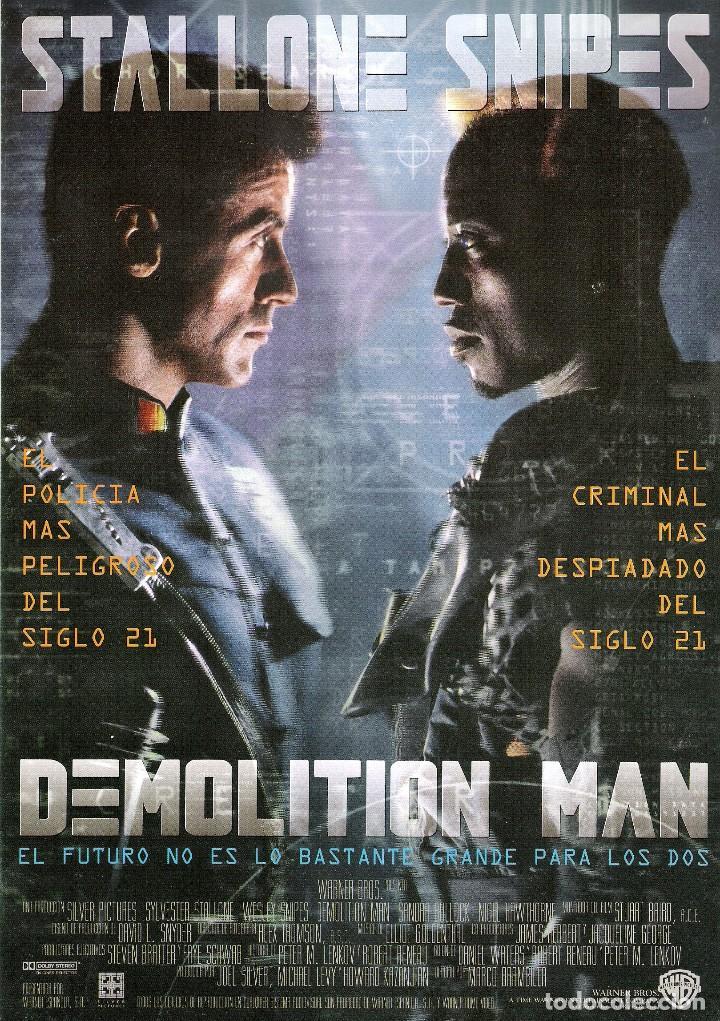 GUIA ORIGINAL SENCILLA DEMOLITION MAN (STALLONE Y SNIPES) (Cine - Guías Publicitarias de Películas )