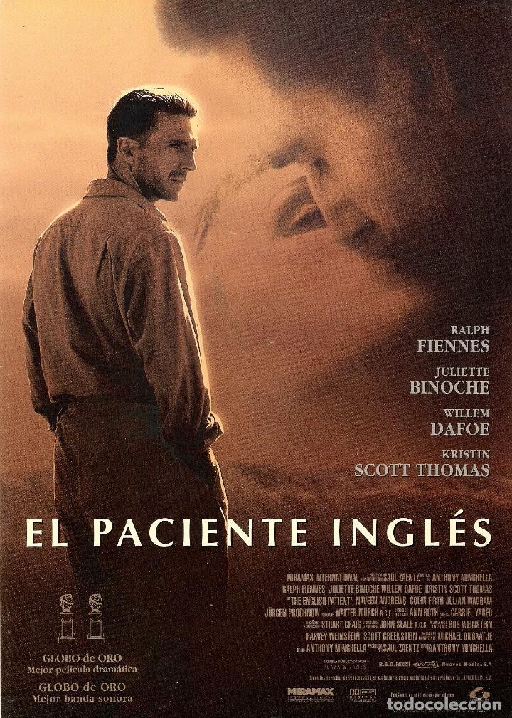 GUIA ORIGINAL SENCILLA EL PACIENTE INGLES (RALPH FIENNES) (Cine - Guías Publicitarias de Películas )