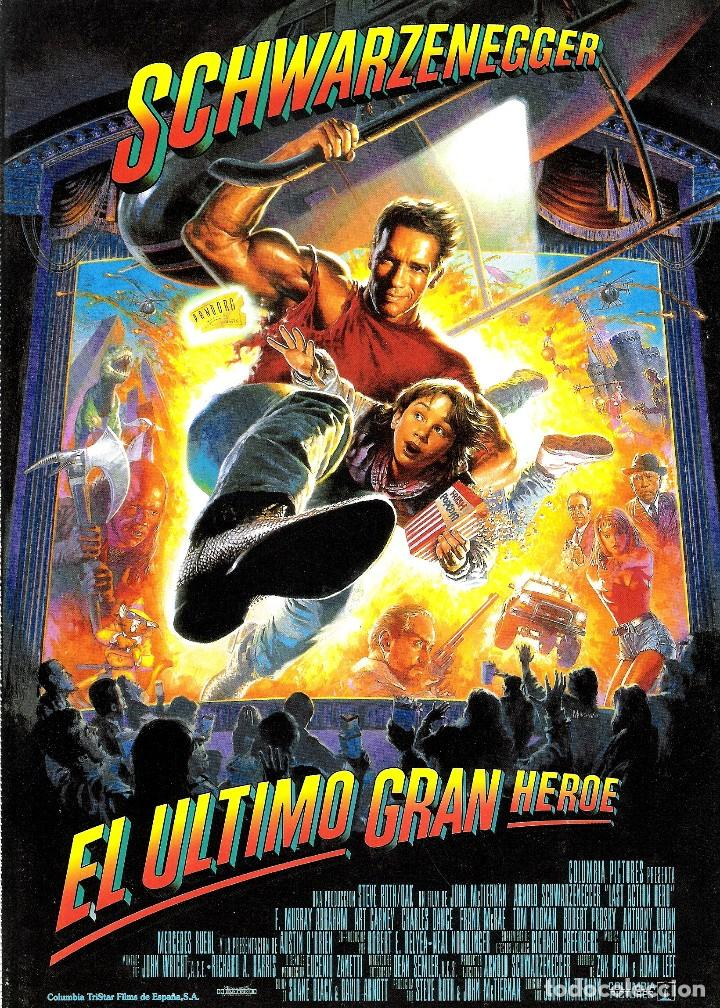 GUIA ORIGINAL SENCILLA EL ULTIMO GRAN HEROE (SCHWARZENERGGER) (Cine - Guías Publicitarias de Películas )