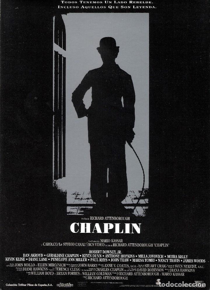 GUIA ORIGINAL SENCILLA CHAPLIN (ROBERT DOWNEY JR) (Cine - Guías Publicitarias de Películas )
