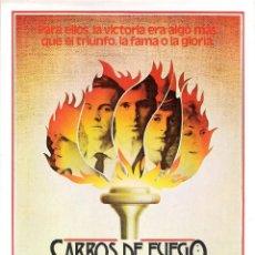 Cine: GUIA ORIGINAL SENCILLA CARROS DE FUEGO (BEN CROSS). Lote 112401991