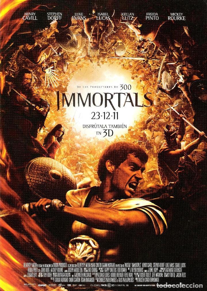 GUIA ORIGINAL DOBLE IMMORTALS (HENRY CAVILL-STEPHEN DORFF) (Cine - Guías Publicitarias de Películas )