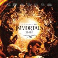 Cine: GUIA ORIGINAL DOBLE IMMORTALS (HENRY CAVILL-STEPHEN DORFF). Lote 112402131