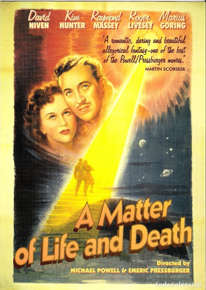 GUIA ORGINAL DOBLE (A MATTER OF LIFE AND DEATH) DAVID NIVEN- KIN HUNTER (Cine - Guías Publicitarias de Películas )