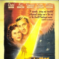 Cine: GUIA ORGINAL DOBLE (A MATTER OF LIFE AND DEATH) DAVID NIVEN- KIN HUNTER . Lote 112402563