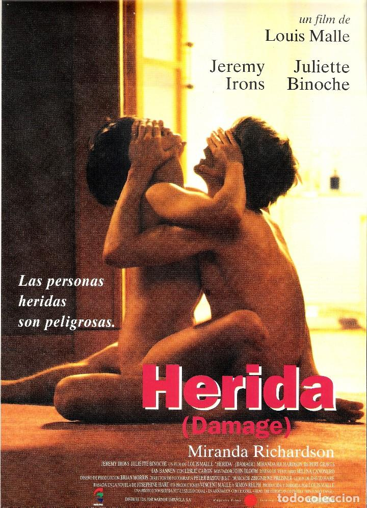 GUIA ORIGINAL SENCILLA HERIDA (JEREMY IRONS JULIETTE BINOCHE) (Cine - Guías Publicitarias de Películas )