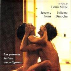 Cine: GUIA ORIGINAL SENCILLA HERIDA (JEREMY IRONS JULIETTE BINOCHE). Lote 113615623