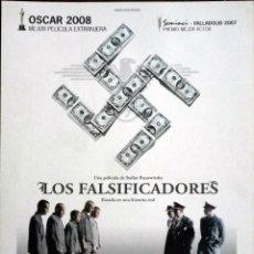 Cine: GUÍA ORIGINAL DE CINE: LOS FALSIFICADORES - GUÍA SIMPLE IMPRESA A DOS CARAS.. Lote 114403767