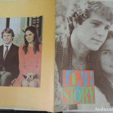 Cine: LOVE STORY - GUIA LUJO ORIGINAL INGLESA - ALI MACGRAW RYAN O'NEAL RAY MILLAND. Lote 115110127