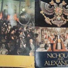 Cine: NICHOLAS Y ALEXANDRA - GUIA LUJO ORIGINAL INGLESA - FRANKLIN J. SCHAFFNER JANET SUZMAN. Lote 115110955