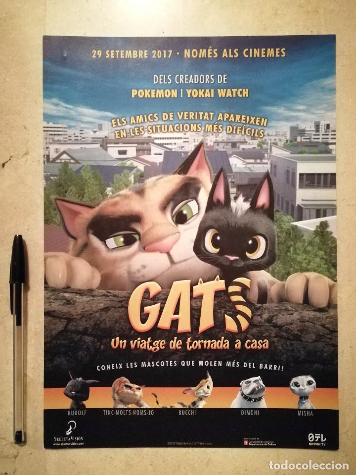 GUIA ORIGINAL -A4- GATS GATOS - ANIMACION - EN CATALAN (Cine - Guías Publicitarias de Películas )