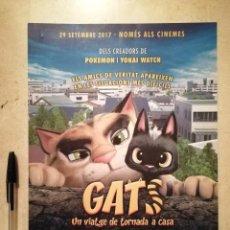 Cine: GUIA ORIGINAL -A4- GATS GATOS - ANIMACION - EN CATALAN. Lote 115636867