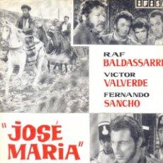 Cine: JOSE MARIA. GUIA ORIGINAL ESTRENO.. Lote 115687779