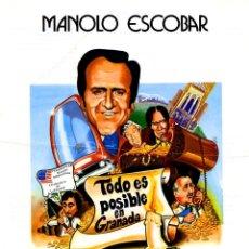 Cine: TODO ES POSIBLE EN GRANADA (GUÍA ORIGINAL SIMPLE ESTRENO EN ESPAÑA) MANOLO ESCOBAR MANOLO GOMEZ BUR. Lote 148588474